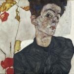 Autoritratto con alchechengi, 1912