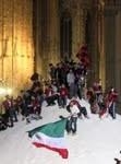 La montagna di sale di Palladino assalita dai milanisti in festa