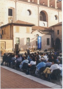 Il Festivaletteratura in piazza Alberti a Mantova in un'immagine della scorsa edizione